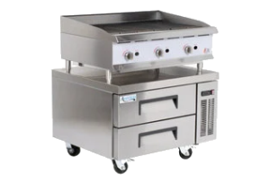 commercial charbroiler, ovens, fryers, steam-tables